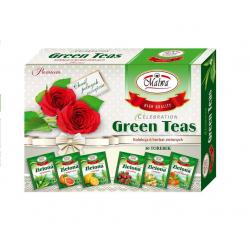 Celebration Green teas Zestaw Okazjonalny - 6 smaków x 5 sztuk po 2 g